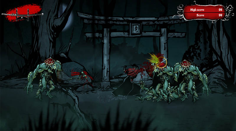 Lute pela sua sobrevivência em Musashi vs Cthulhu