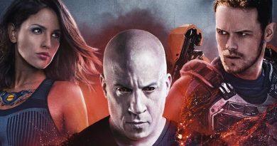 Vin Diesel libera cartaz  Bloodshot com Sam Heughan e Eiza Gonzalez!