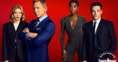 Elenco de 007 – Sem Tempo Para Morrer estampa capa de revista para divulgar o filme!